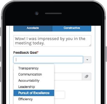 feedback goal example
