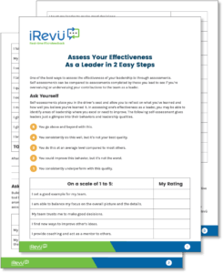 leadership style assessment printable